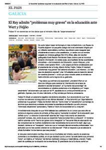 2014-09-19-El Pais-El Rey admite problemas educacion