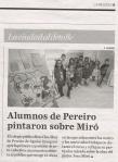 La Región, prensa, interpretando a Miró, actividad, pintura,