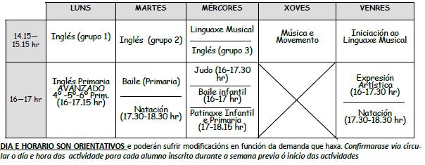 Extraescolares 18-19